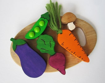Wooden Vegetable Play food Waldorf Eco Children Kitchen