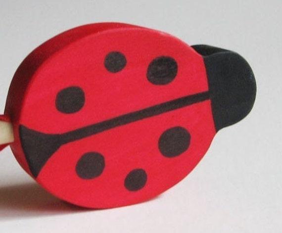 Wooden Ladybug Wand