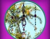 Purple and Teal Trio Suncatcher - Price Reduced