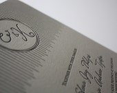 Lovely Lines Letterpress Wedding Invitation Sample on Premium Cotton Cardstock