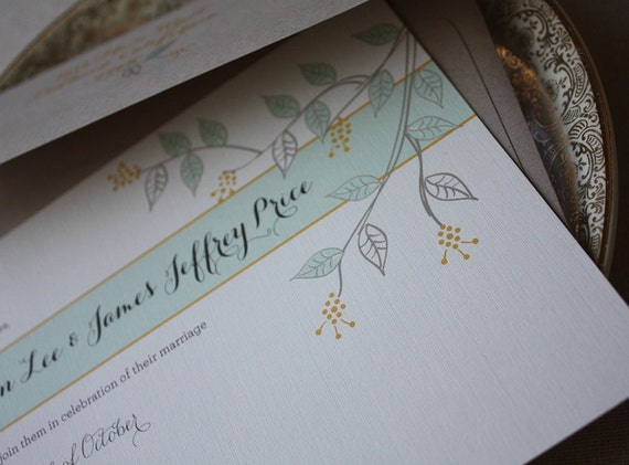 Under the Branches Eco-Friendly Wedding Invitation Suite Sample