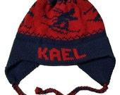 Personalized Earflap Hat - Skiers