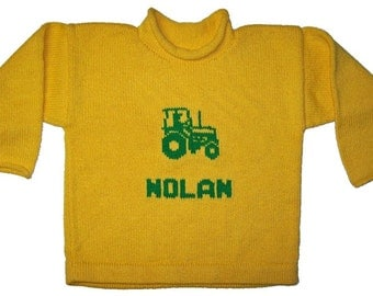 Personalized Sweater - Tractor Pullover