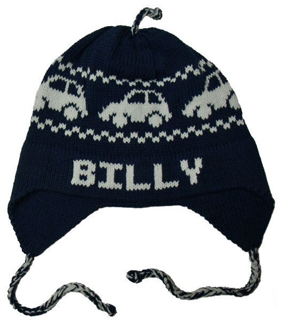 Personalized Earflap Hat - Cars