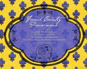 South of France Provencal Party Personalized Invitations
