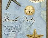 At the Shore Beach Party Personalized Invitations