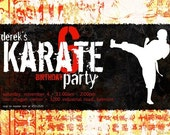 Karate Party Invitation Personalized