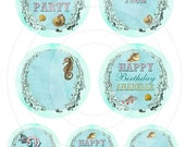 Under the Sea Party - Printable Circular Tags 2 Sizes