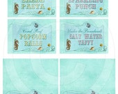 Under the Sea Party - Assorted Printable Party Cards
