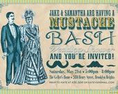 Mustache Bash Bridal or Wedding Shower - Woman Only or Couples Shower