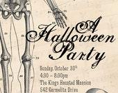Halloween Invitation: Mr. Bones Skeleton Halloween Party