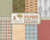 Princess and Knight Royal Digital Scrapbook Paper Pack
