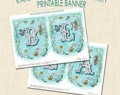 Under the Sea Party Personalized Banner - digital file delivery