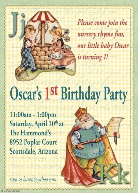 items similar to nursery rhyme birthday party digital