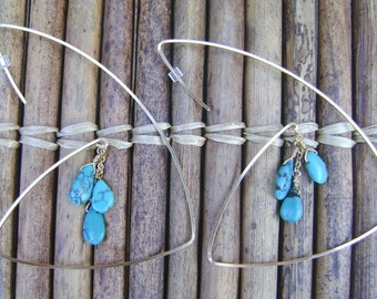 Revised Hoops- Turquoise