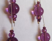 Long purple dangle earrings