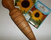 Solid Oak Garden Dibble Planting Tool Made in Vermont