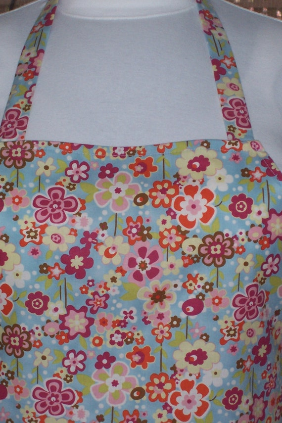 Plus Size Apron - Field of Flowers