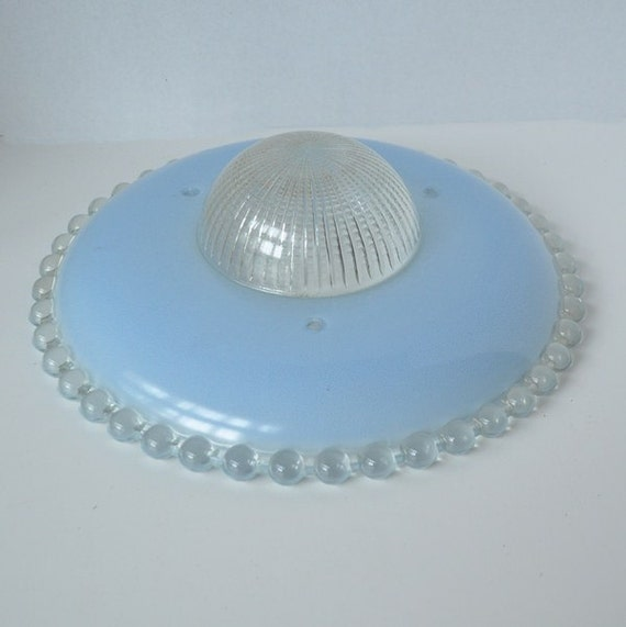Blue Antique Ceiling Shade Candlewick Style