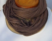 Delicious Textured Dark Taupe Double wrap Jersey Lovey