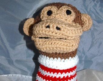 Crocheted Monkey Hand Puppet