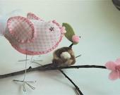 It's a Girl -  Lovebird Baby Shower Cake Topper