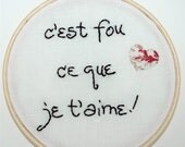 Customised Hand-Embroidered Wall Decor - You Tell Me What Message You Want