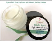 Bright Eyes Best Organic Dark Under Eye Circle Minimizer Cream with Haloxyl | Reduce Dark Circles , Eye Bags , Puffy  Eyes | Vegan - 1 oz