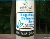 Bug Away All Natural Bug Deterrent Outdoor Spray Bug Repellent that Really Works | Vegan | Non-Toxic | 100% Natural | Safe for Kids - 4 oz