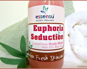 Euphoria Aromatherapy Moisturizing Organicd Aloe Vera Soy Oil Enriched Botanical Body Wash | Sensitive Skin | Dry Skin Formula  - 9 oz