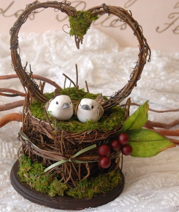 Fantastical Forest Collection - Birds and Berries Caketopper