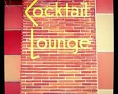 "5""x5"" Cocktail Lounge, Estrada Motel, Hollywood, Florida Print Square Photo"
