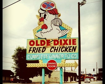 "5""x5"" Olde Dixie Fried Chicken, Orlando, Florida Print Square Photo"