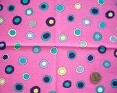 Fat Quarter - Cranston Village Fabrics - Dots on Pink - Quilt Fabric - OOAK