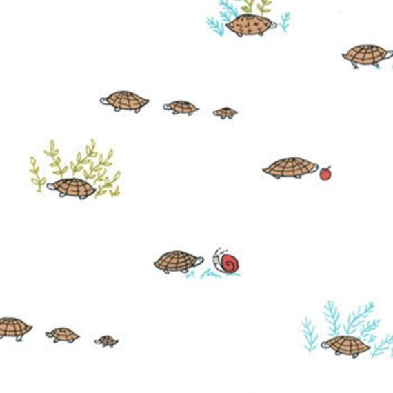 Moda Fabrics - Little Apples - Tortoise - White - Designer Quilt Fabric - END OF BOLT