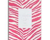 11 x 14, Hot Pink Zebra Fabric Mat