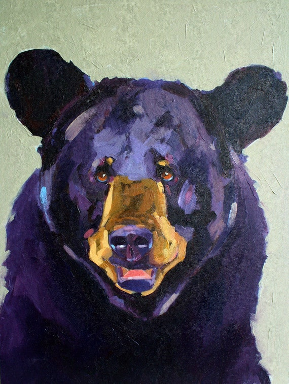 "Painting ""Oso"" in oil on panel"