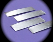 """30 Blanks 1/2"""" x 2"""" Tumble Polished Rectangles 14 Gauge Heavy Weight Pure Food Safe Aluminum - QTY 30"""