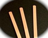 "6 Cuffs - 1/4"" x 7"" Copper or Brass 18 Gauge Tumble Polished or Raw Bracelet Blank Cuffs - 6 Cuffs - Flat - Made in USA"