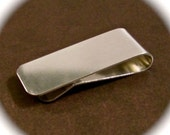 5 Polished Money Clip Blanks 18 Gauge 3003 Flexible Strong Aluminum 1 x 5 Inch - 5 Clips - FLAT