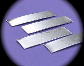 "30 Blanks 1/2"" x 2"" Tumble Polished Rectangles 14 Gauge Heavy Weight Pure Food Safe Aluminum - QTY 30"