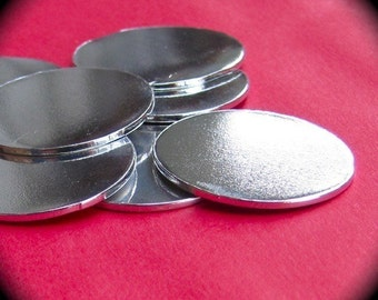 "50 Discs 3/4"" 14 Gauge Polished Pure Food Safe Aluminum - 50 Discs"