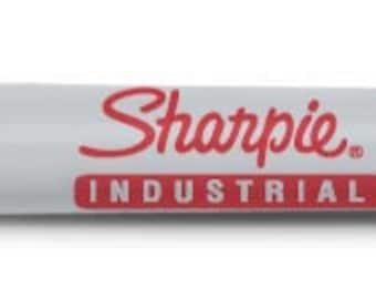Black  Industrial Sharpie Fine Point Marker - Qty 3