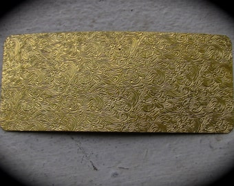 "Floral Paisley Pattern 2.5"" x 6"" Brass Texture Plates"