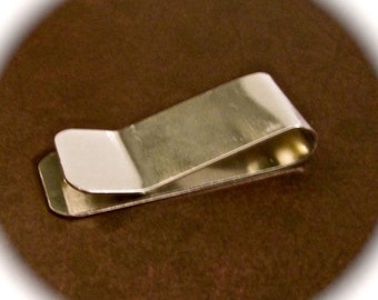 5 Polished 16 Gauge Money Clip Blanks 3003 Flexible Strong Aluminum 1 x 5 Inch - 5 Clips - FLAT
