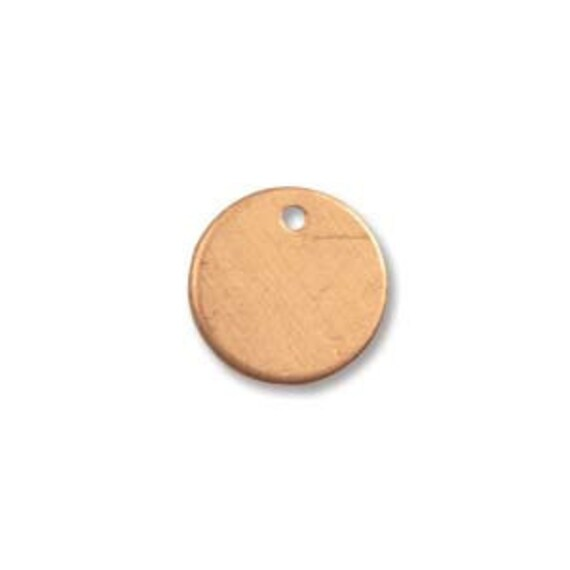 Clearance - Tiny Copper Blank Disc 9mm and .7mm Hole - 24 Gauge - QTY 20