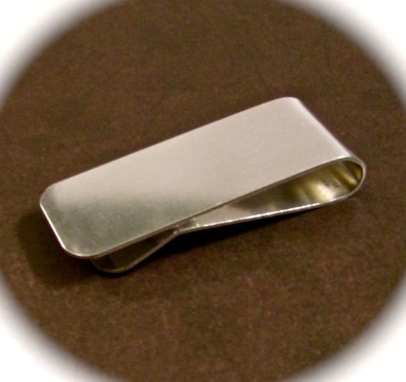 5 Polished Money Clip Blanks 16 Gauge 3003 Flexible Strong Aluminum 1 x 5 Inch - 5 Clips - FLAT