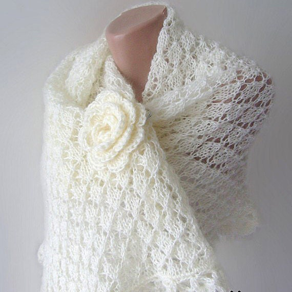 Knitting Patterns For Bridal Shawls : Unavailable Listing on Etsy