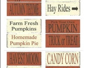 Primitive signs printable decoupage sheets , Halloween Pumpkin , SOOO..... EASY , ( anyone an make these )