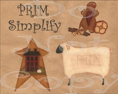 Graphics , Clipart , Digital primitive saltbox star , sheep , gingerbread , for commercial and personal use